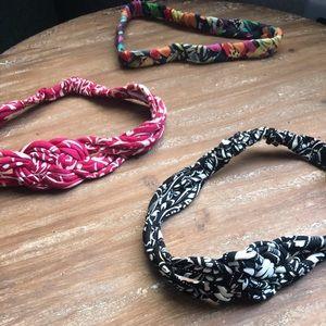 3 Vera Bradley Headbands